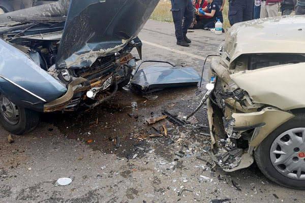 Çorum'un İskilip İlçesi'nde meydana gelen kazada 8 kişi yaralandı